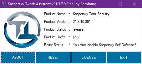 Kaspersky Tweak Assistant
